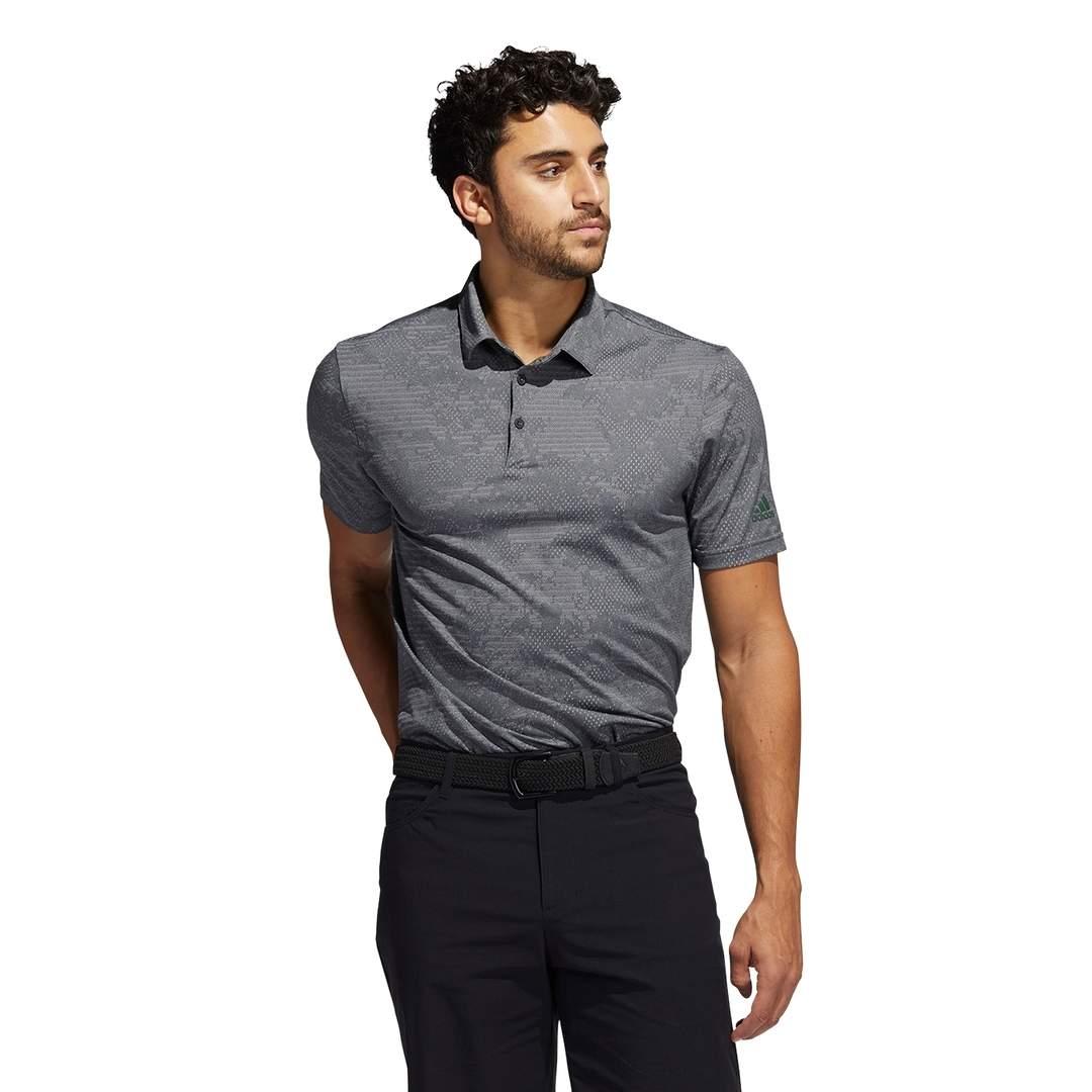 Adidas Men's Camo Polo - Black/Grey