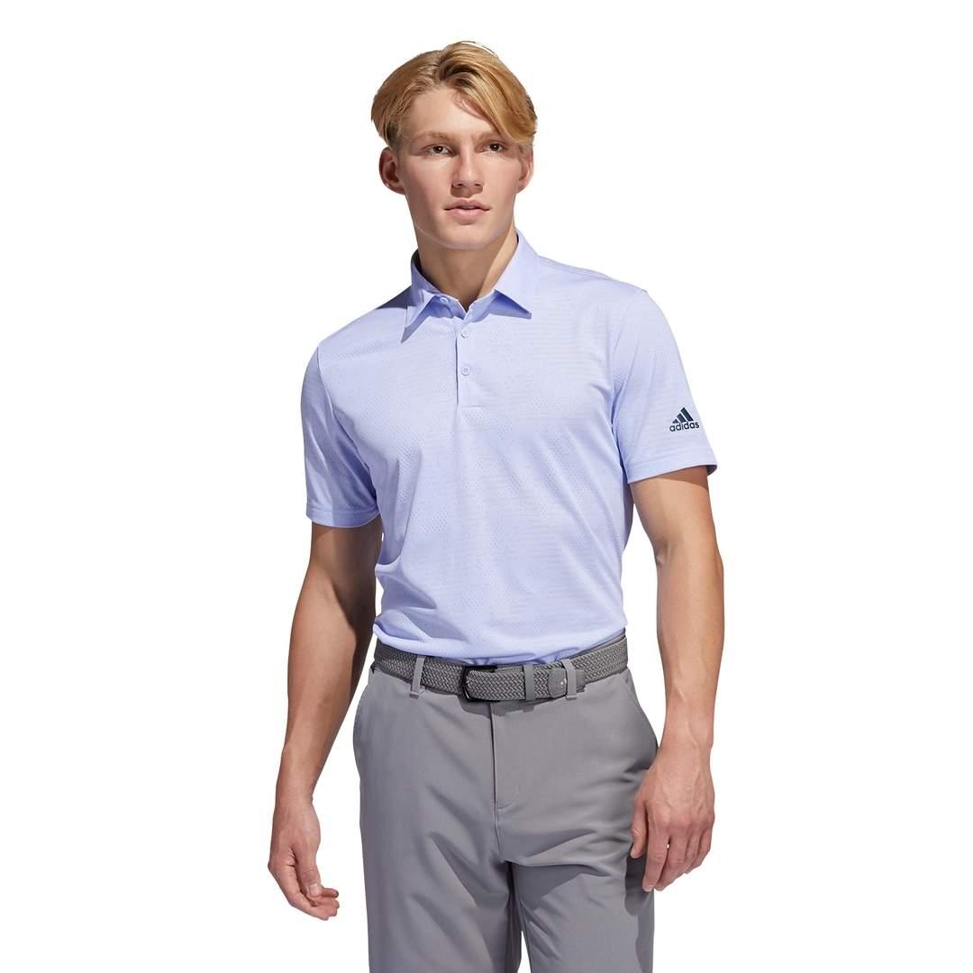 Adidas Men's Camo Polo - Violet Tone/White
