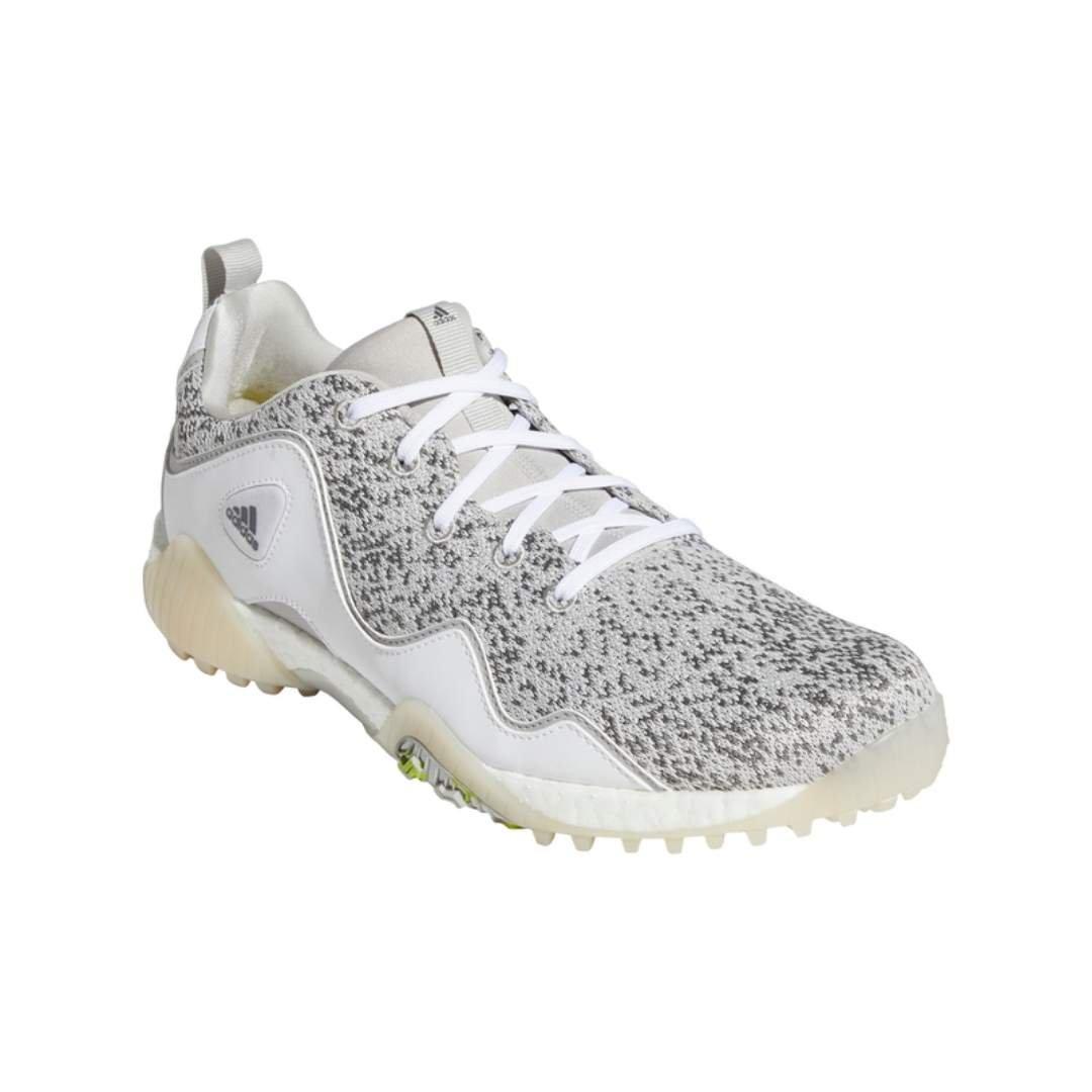 Adidas Men's Codechaos 21 Primeblue Spikeless Golf Shoe - White/Grey