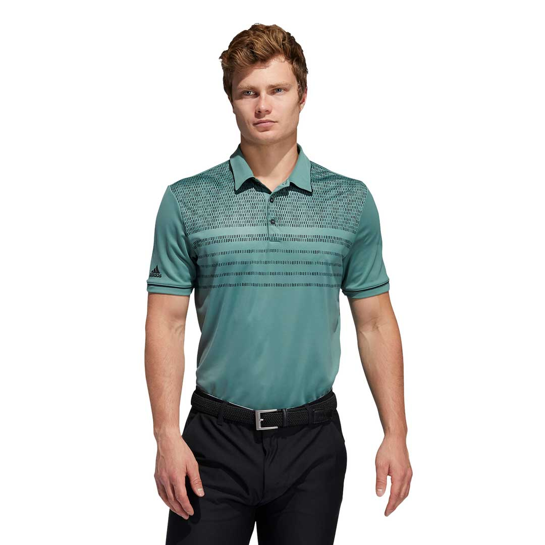 Adidas Men's Core Novelty Tech Emerald Polo