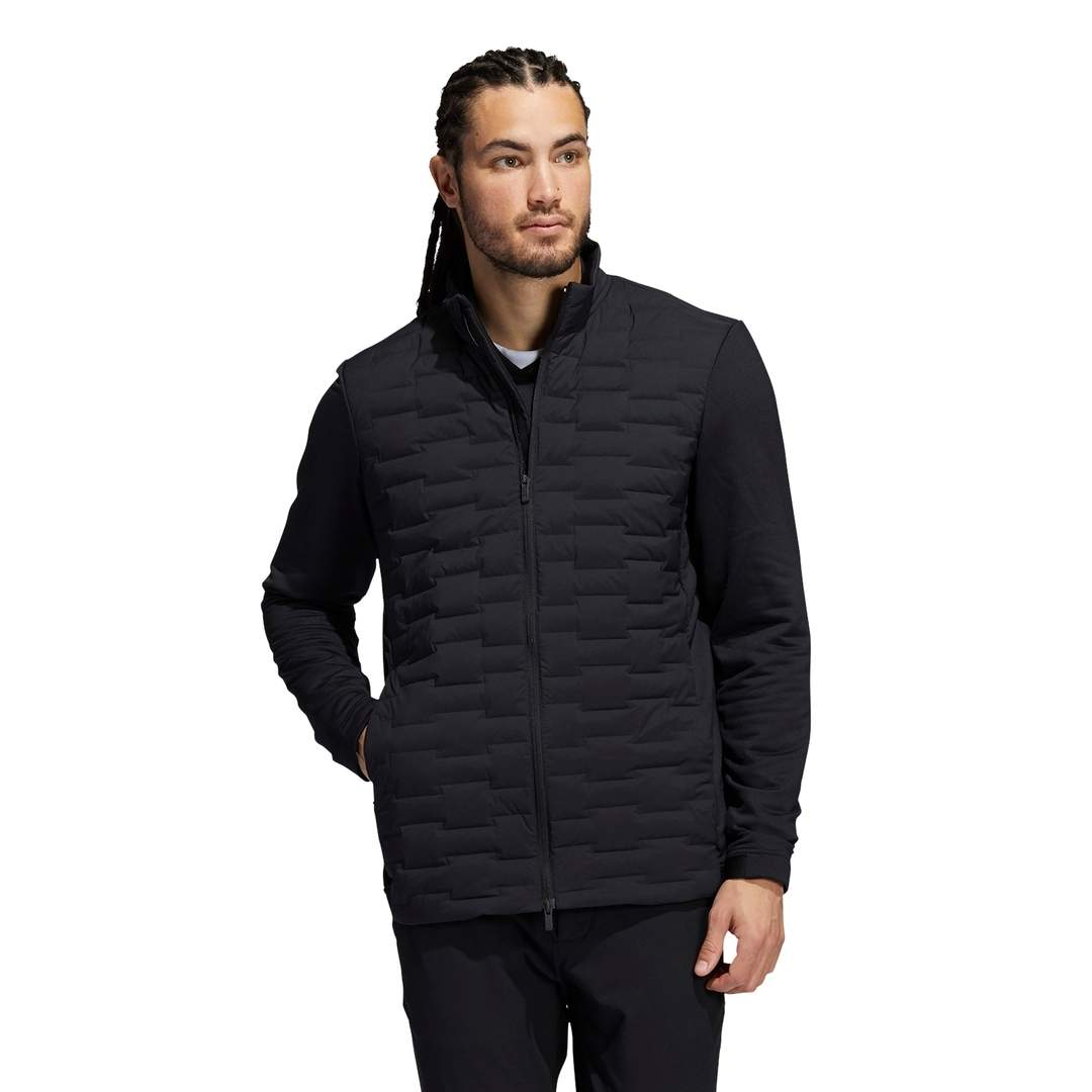 Adidas Men's Frostguard Recycled Content Full-Zip Padded Jacket - Black