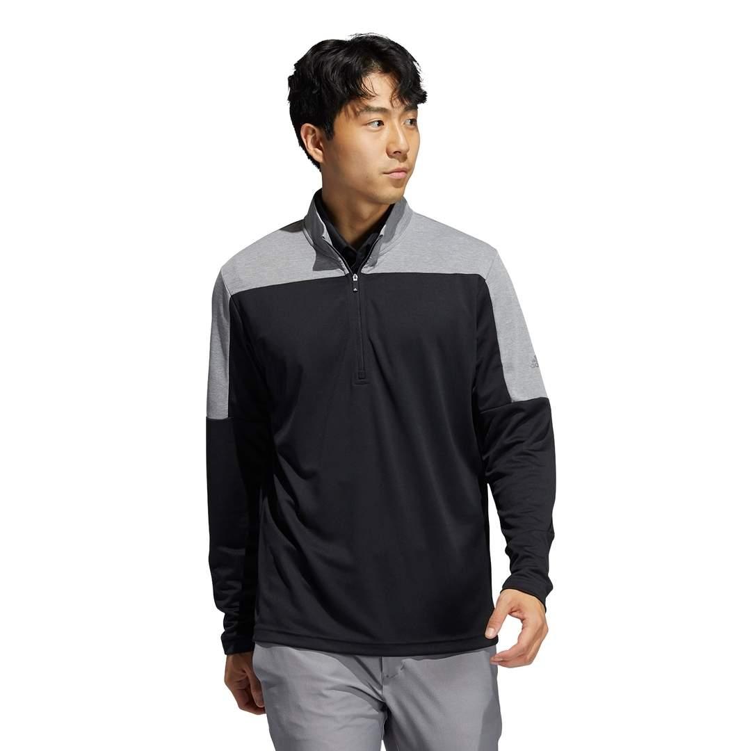Adidas Men's Lightweight UV Quarter-Zip Sweatshirt - Black