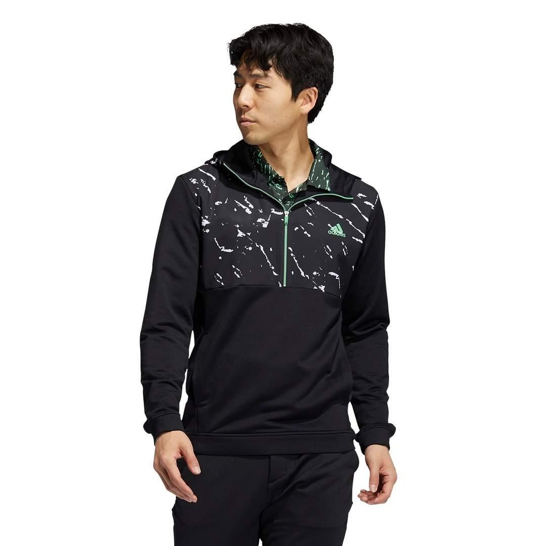 Adidas Men's Primeblue COLD.RDY Half-Zip Anorak Pullover - Black/White