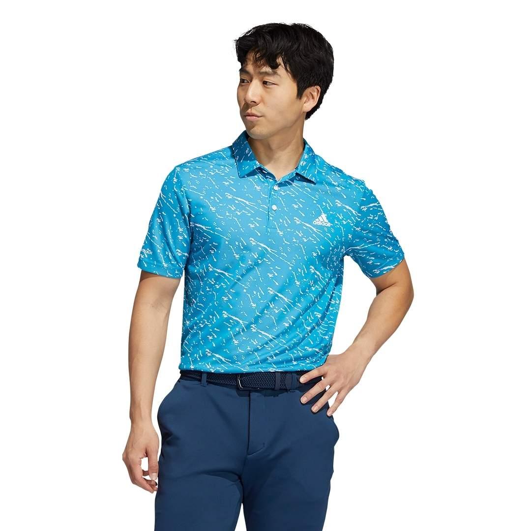 Adidas Men's Primeblue Polo - Sonic Aqua