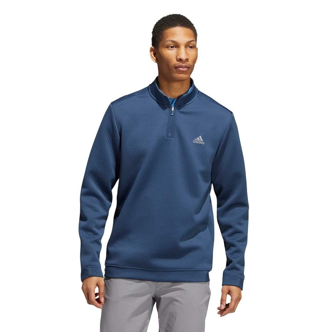 Adidas Men's Primegreen Water-Resistant Quarter-Zip Pullover - Crew Navy