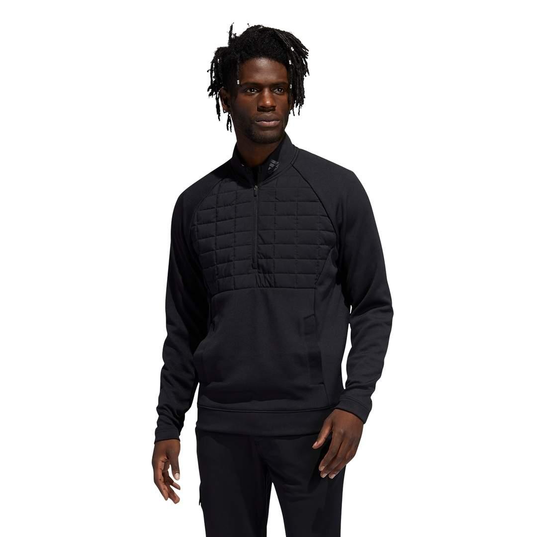Adidas Men's Quarter-Zip Pullover - Black