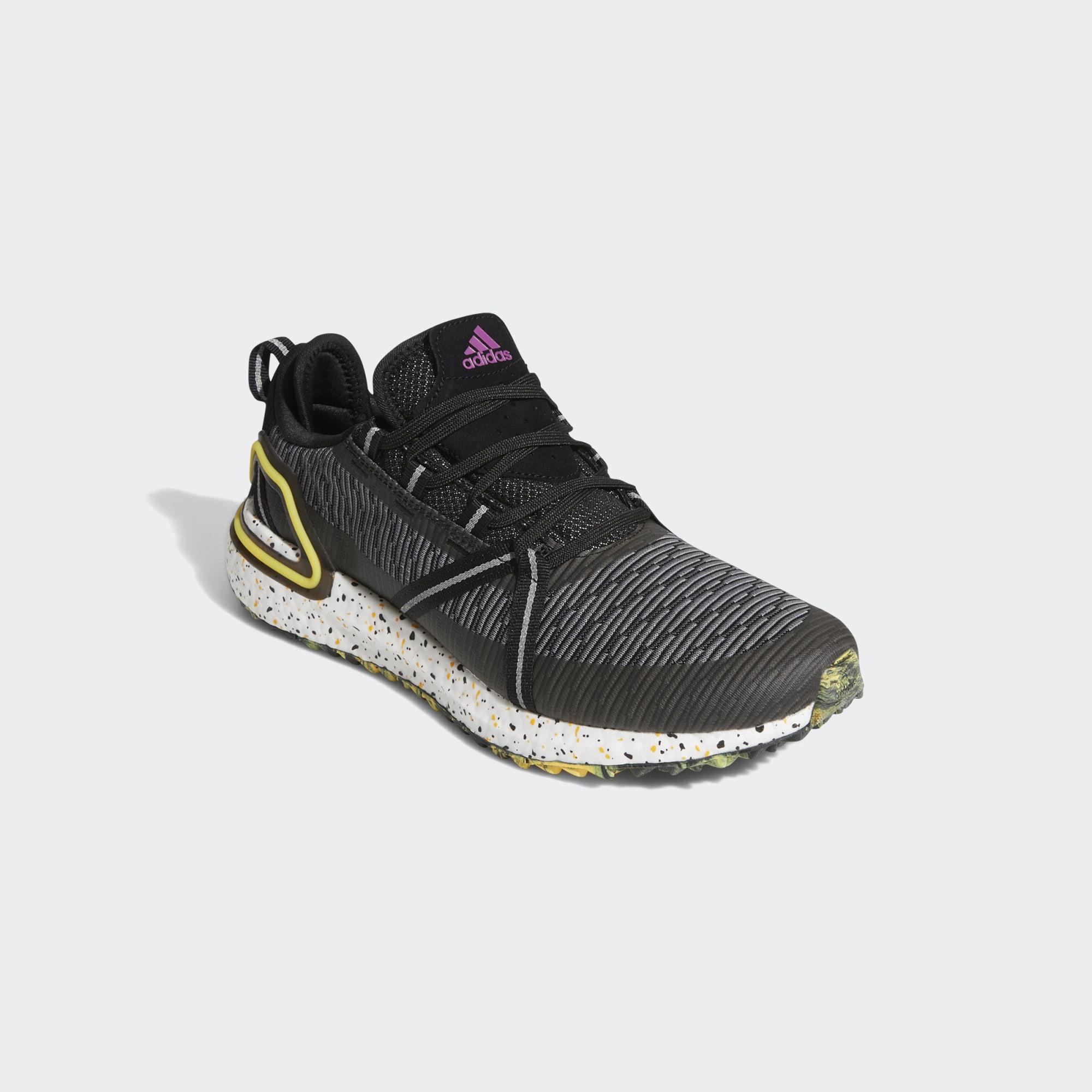 Adidas Men's Solarthon Primegreen Spikeless Golf Shoes - Core Black/Solar Gold