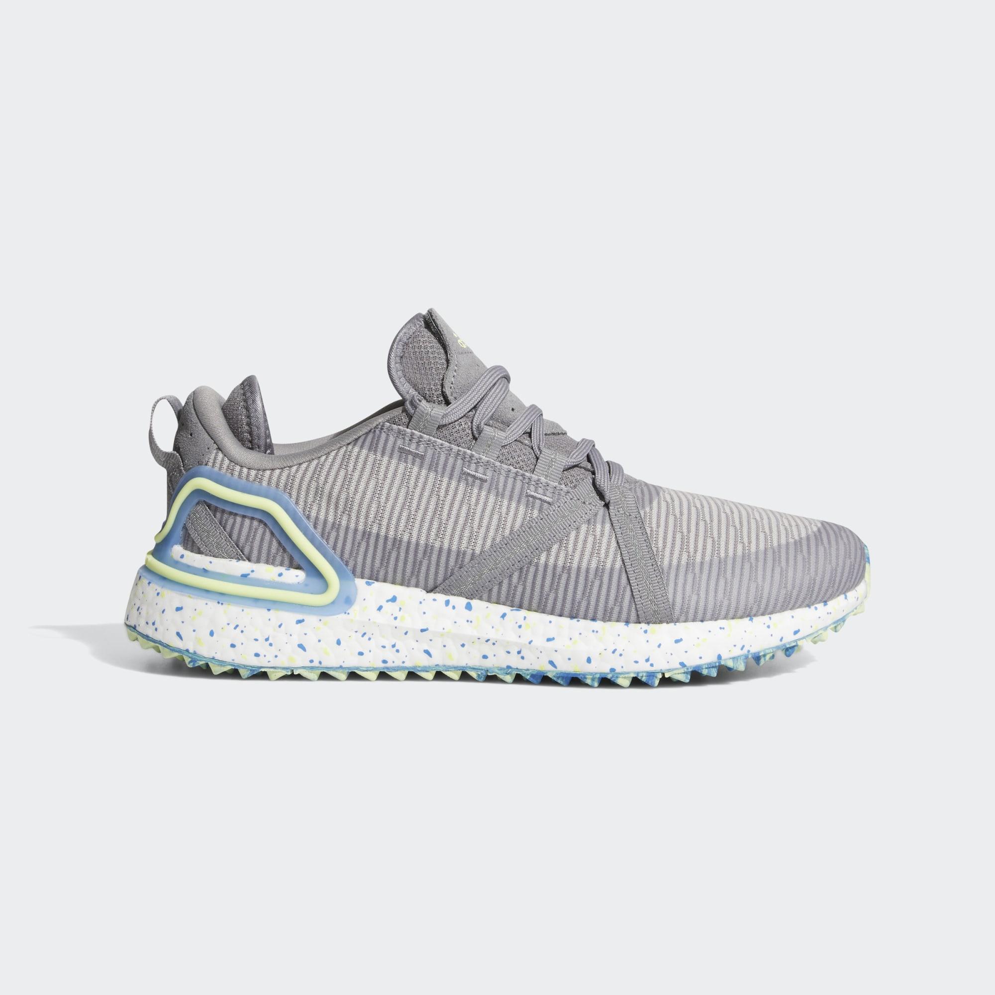 Adidas Men's Solarthon Primegreen Spikeless Golf Shoes - Grey Three/Pulse Yellow