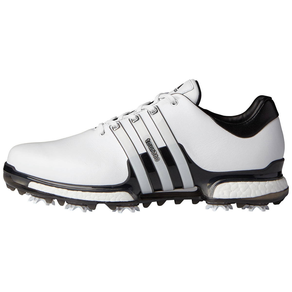 Adidas Mens Tour360 Boost 2.0 Golf Shoe - White/Black Wide
