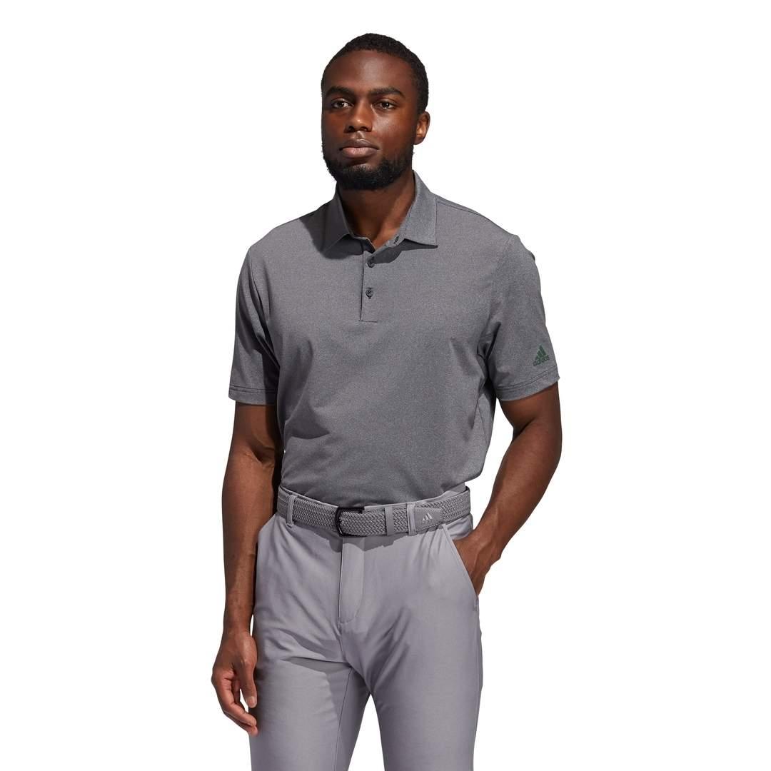Adidas Men's Ultimate365 Heather Polo - Black