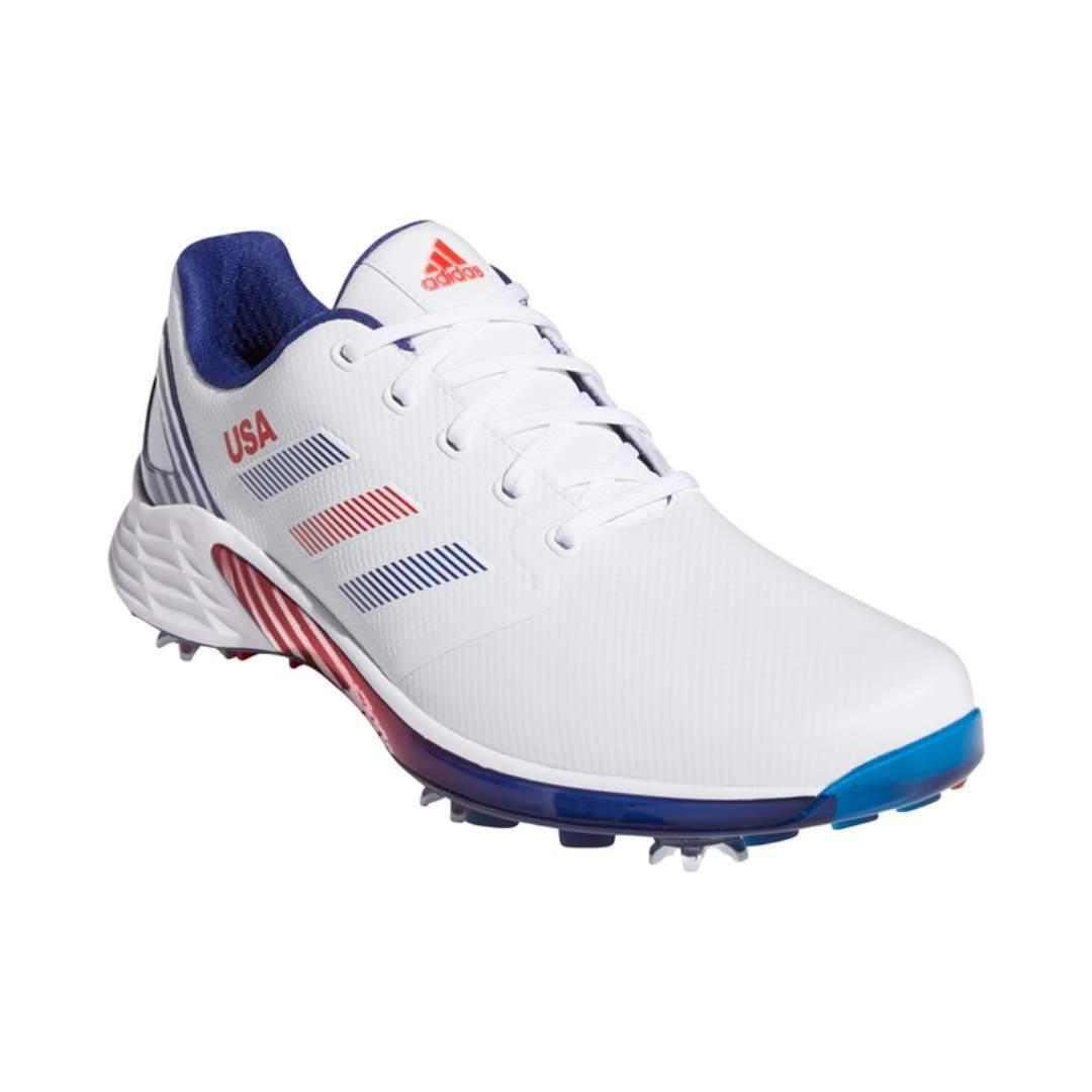Adidas Men's ZG21 Golf Shoe - White/Navy/Red