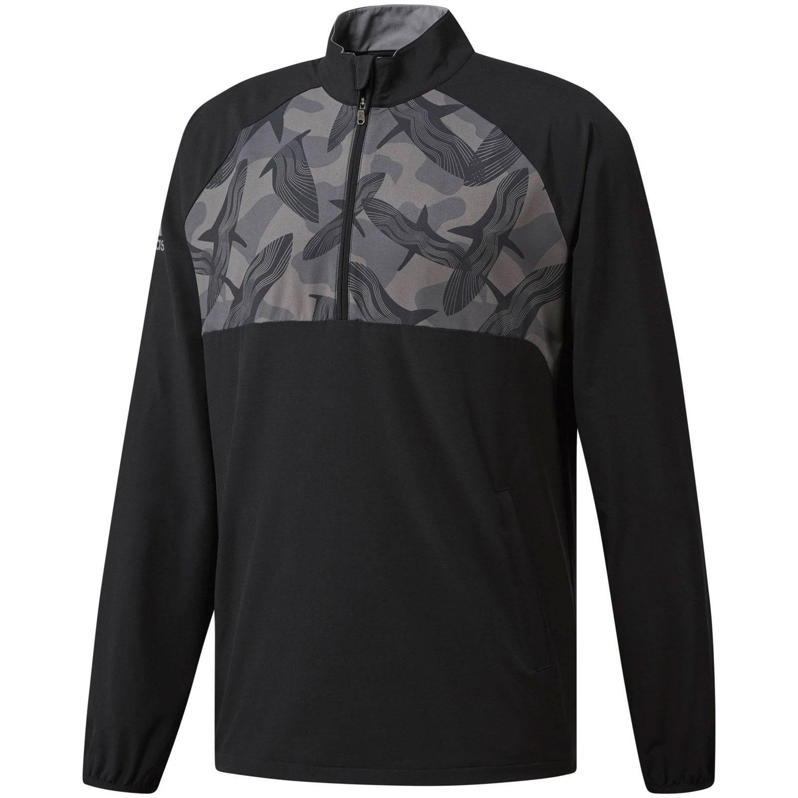 Adidas Novelty Windbreaker Quarter-Zip Black Pullover