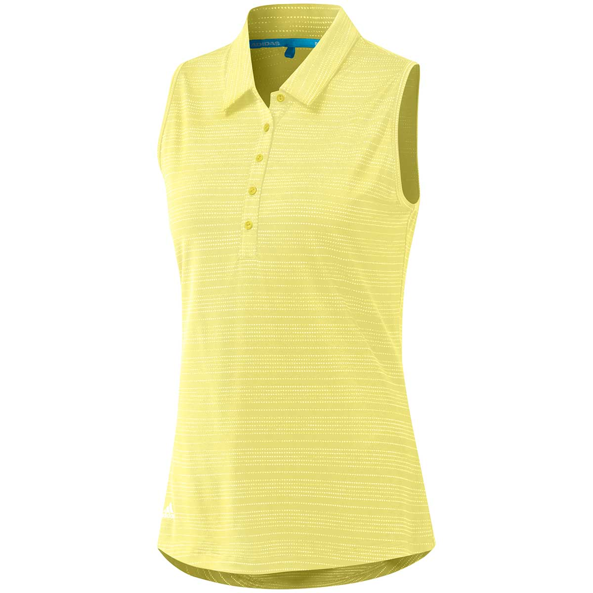 Adidas Women's Microdot Sleeveless Polo Shirt - Yellow