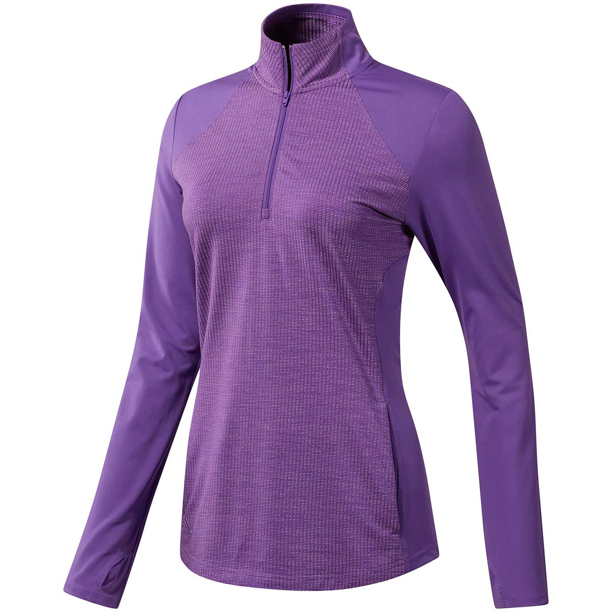 Adidas Women's Sport Layering 1/2 Zip Jacket - Active Purple