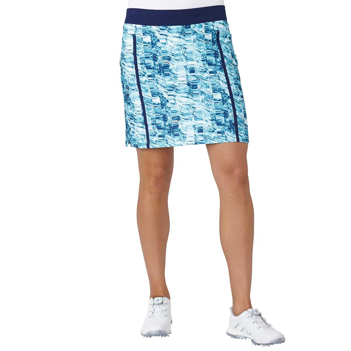 adidas Women's Ultimate Adistar Printed Golf Skort - Blue