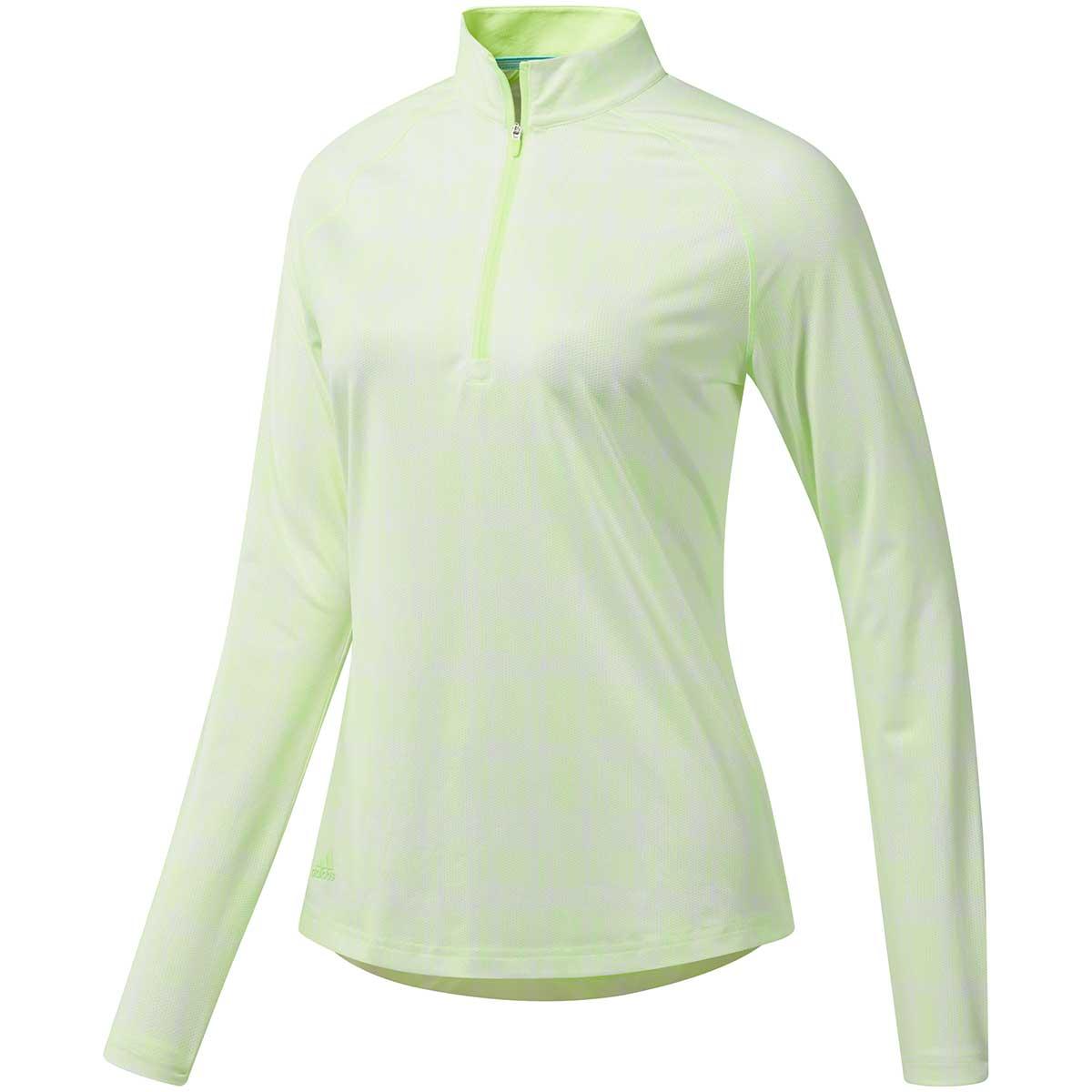Adidas Women's Ultimate365 Climacool Printed UPF Polo Shirt - Yellow