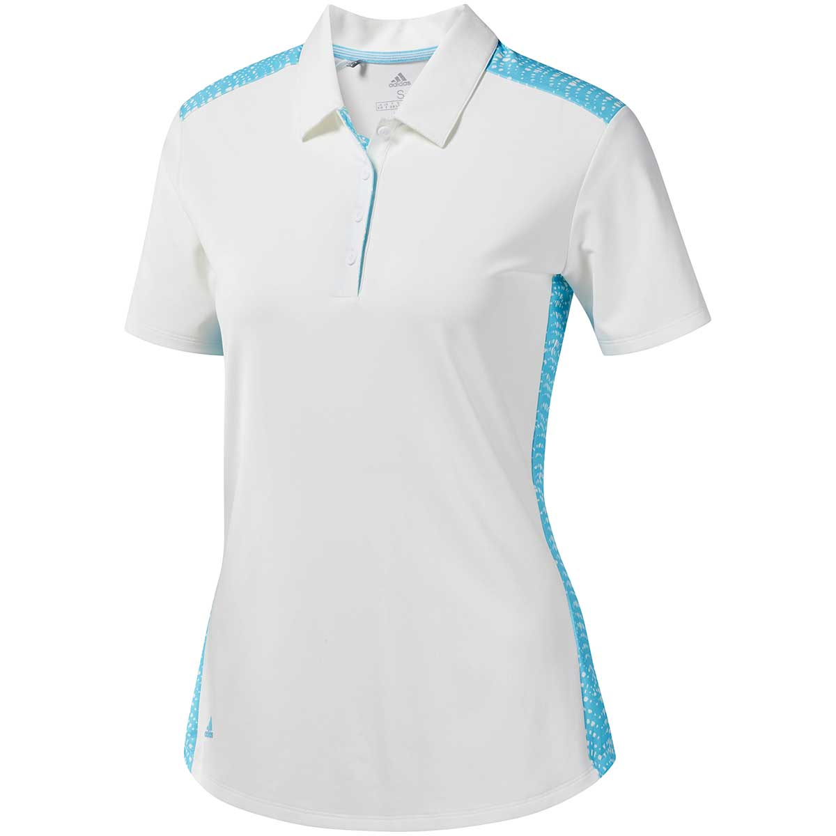Adidas Women's Ultimate365 Novelty Polo Shirt - White/Cyan