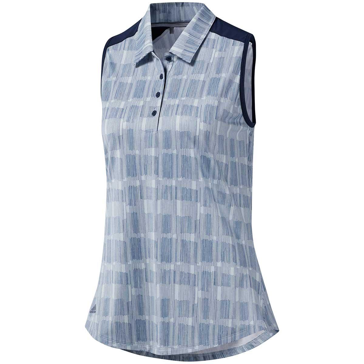 Adidas Women's Ultimate365 Printed Polo Shirt - Aero Blue