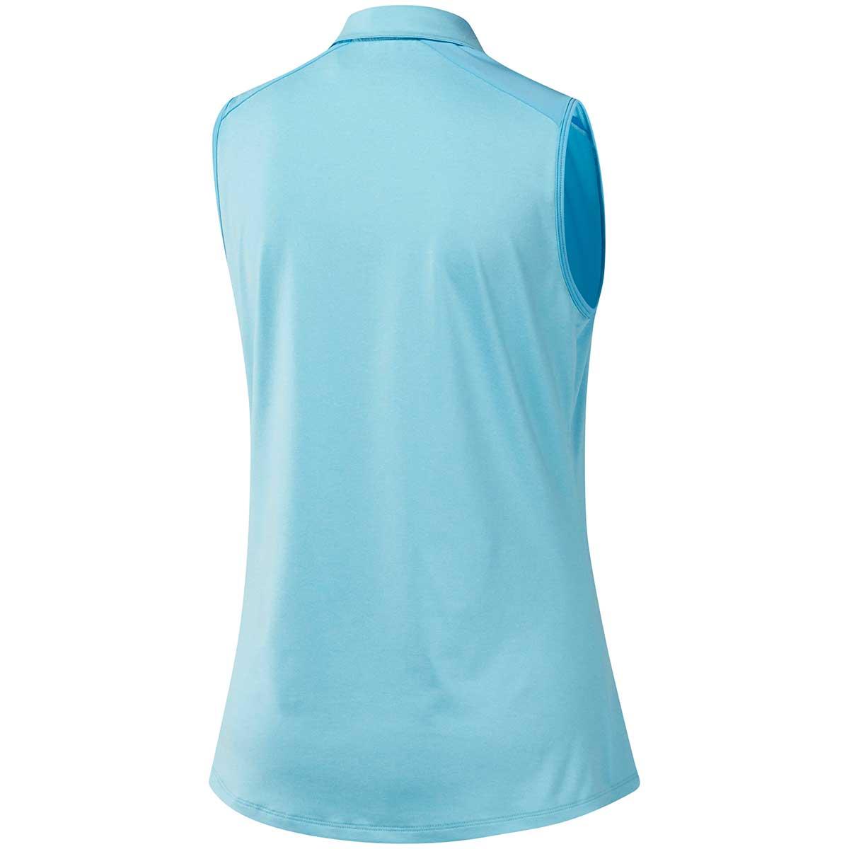 Adidas Women's Ultimate365 Sleeveless Polo Shirt - Aero Blue