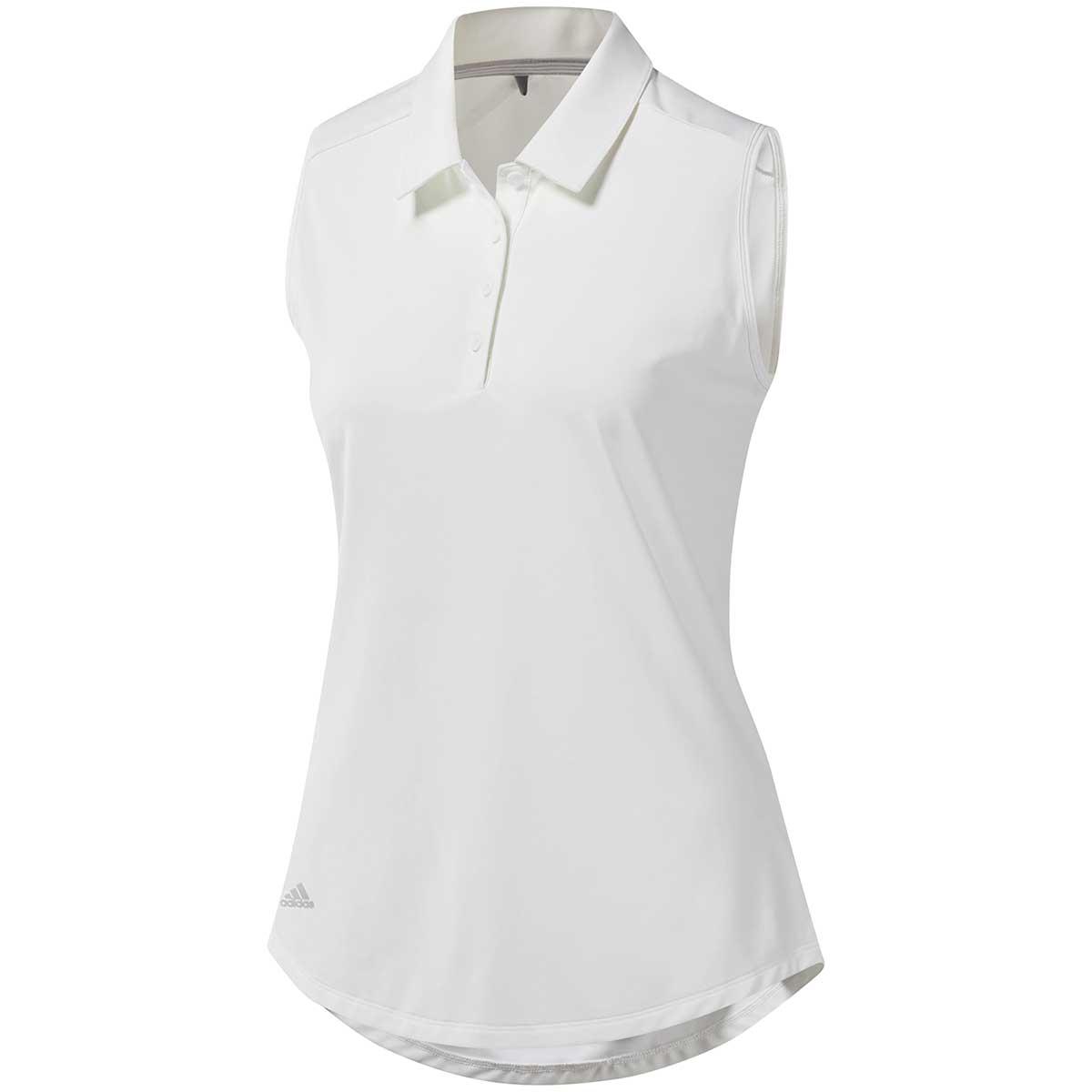 Adidas Women's Ultimate365 Sleeveless Polo Shirt - White