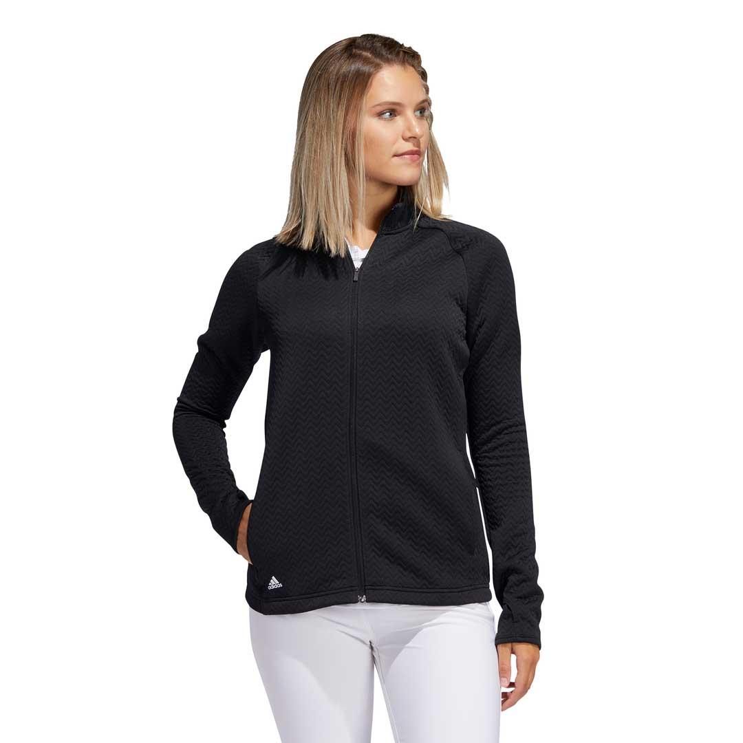 Adidas Women's 2020 Textured Layer Black Jacket