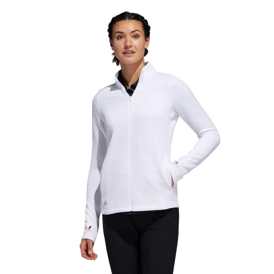 Adidas Women's 2020 Textured Layer White Jacket
