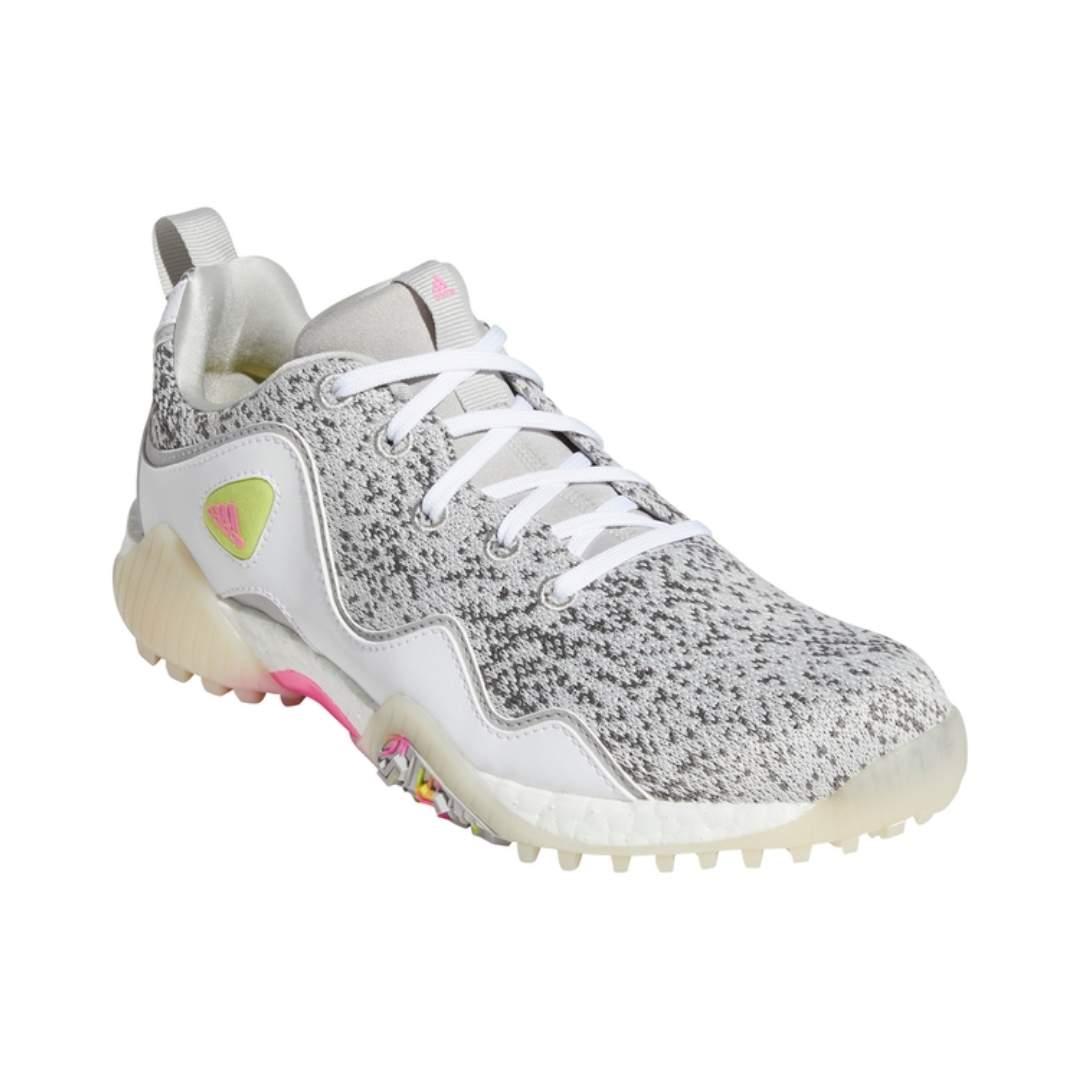 Adidas Women's CodeChaos 21 Primeblue Spikeless Golf Shoes - Screaming Pink