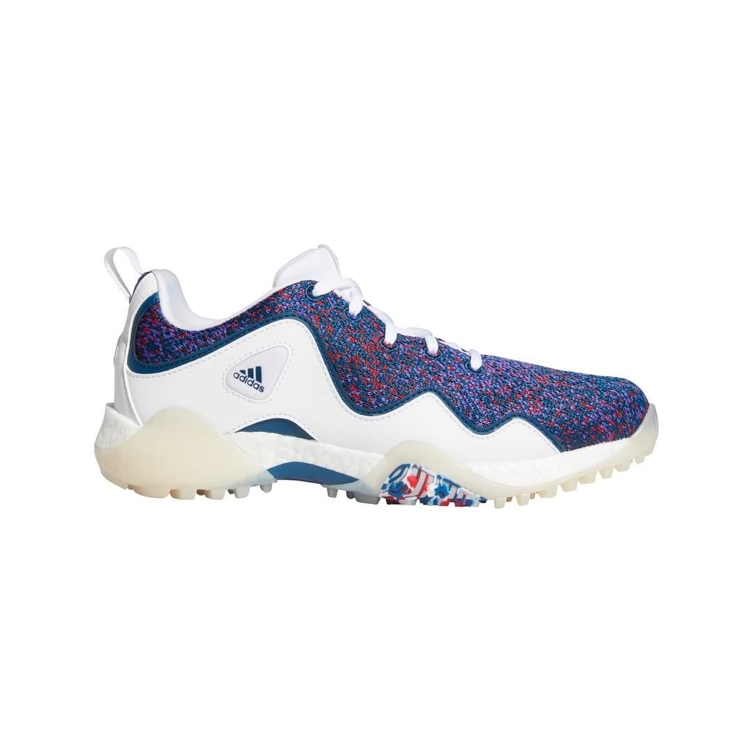 Adidas Women's CodeChaos 21 Primeblue Spikeless Golf Shoes - White/Scarlet