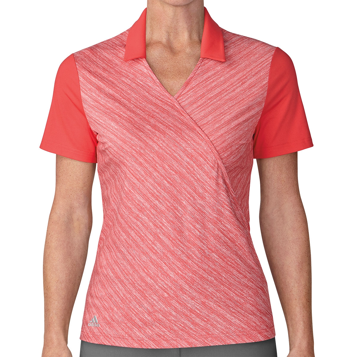 Adidas Womens Crossover Novelty Polo - Real Coral