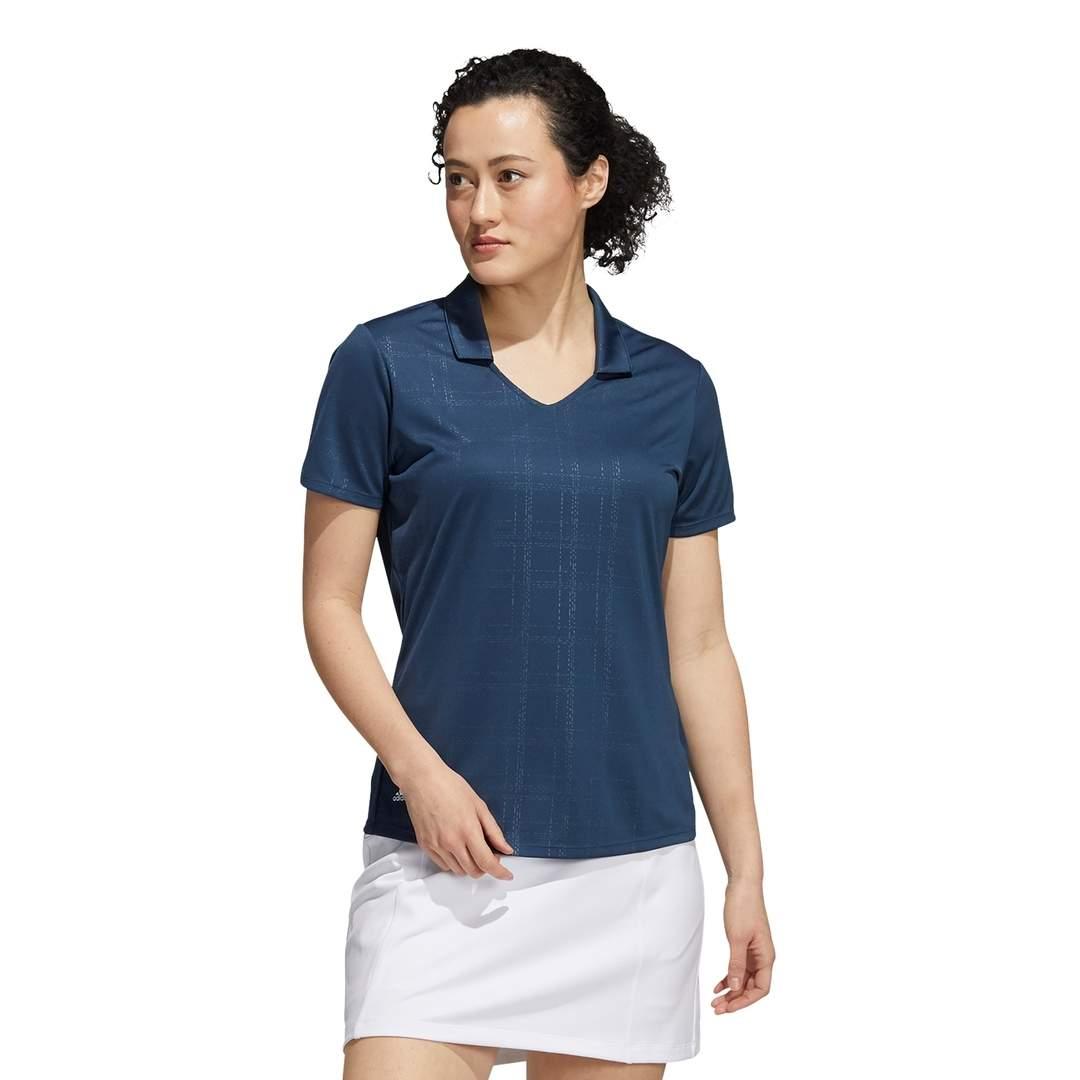 Adidas Women's Embossed Primegreen Polo - Crew Navy