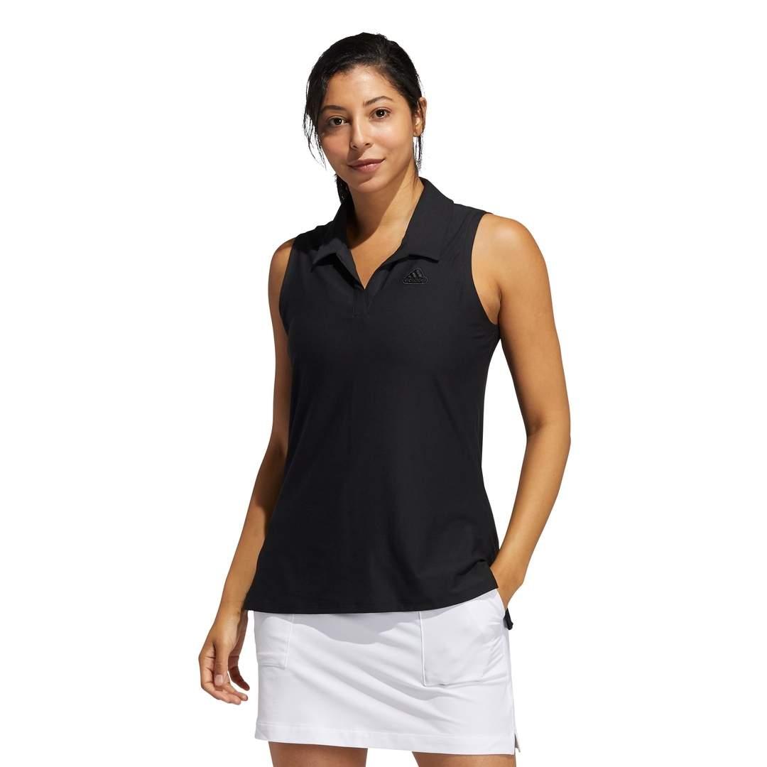 Adidas Women's Go-To Primegreen Short Sleeve Polo - Black