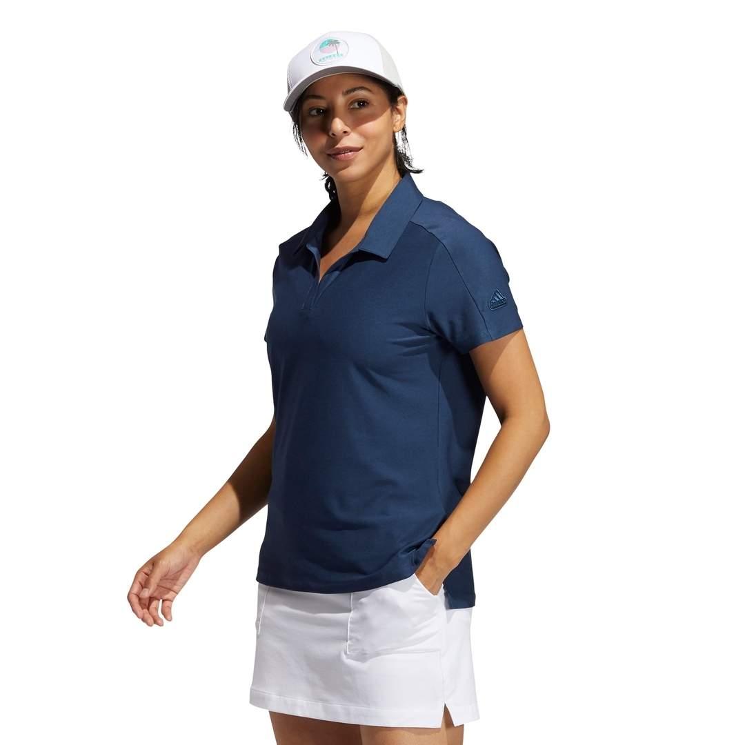 Adidas Women's Go-To Primegreen Short Sleeve Polo - Crew Navy