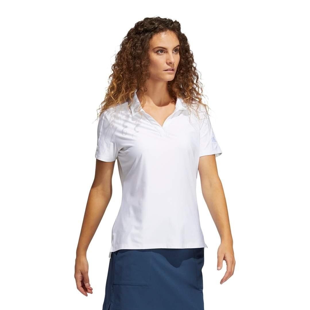 Adidas Women's Go-To Primegreen Short Sleeve Polo - White