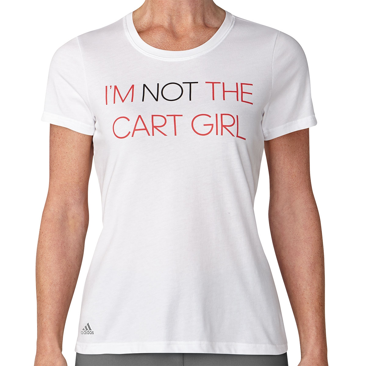 """Adidas Womens """"I'm Not The Cart Girl"""" Graphic T-Shirt"""