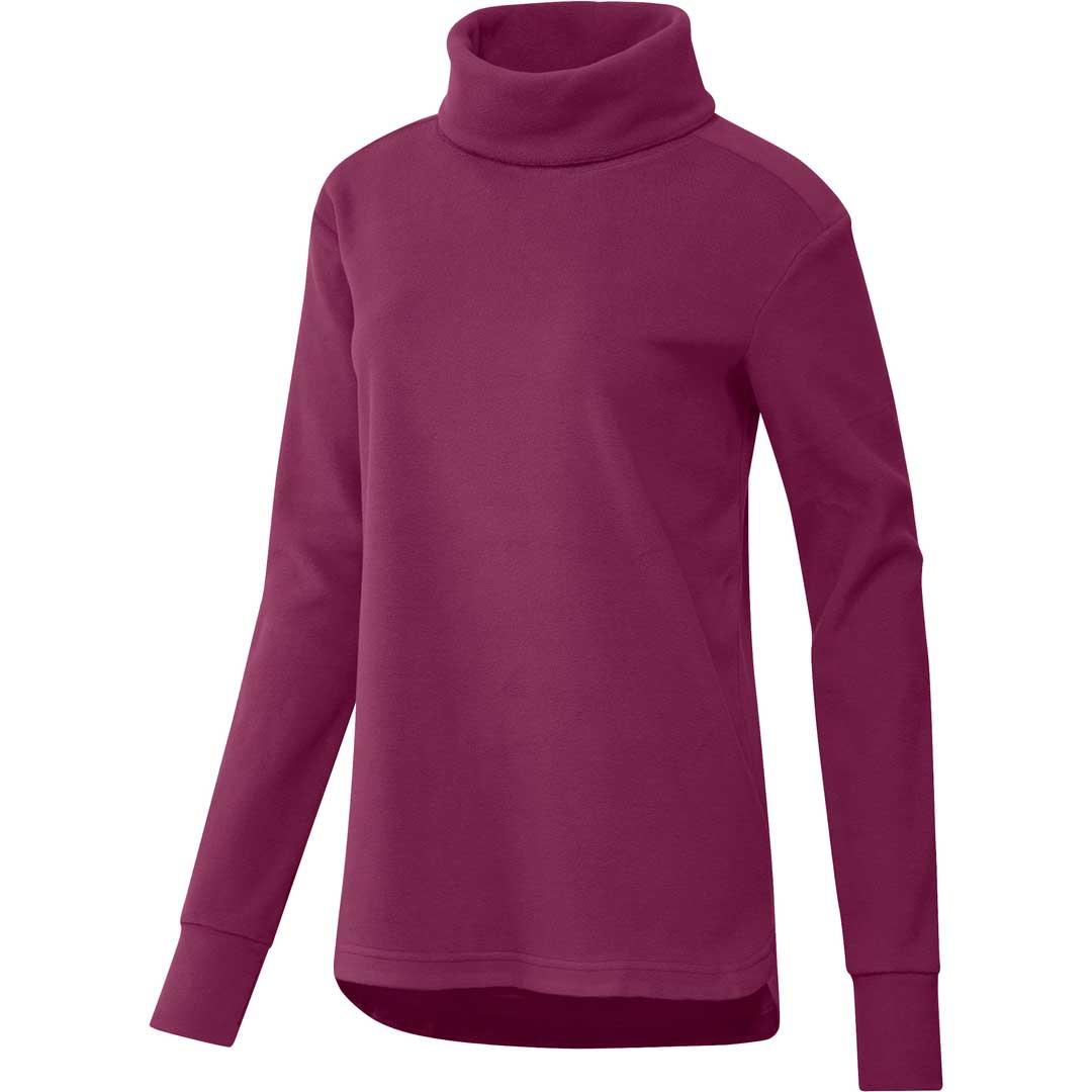 Adidas Women's Polar Fleece Mock Neck Sweatshirt