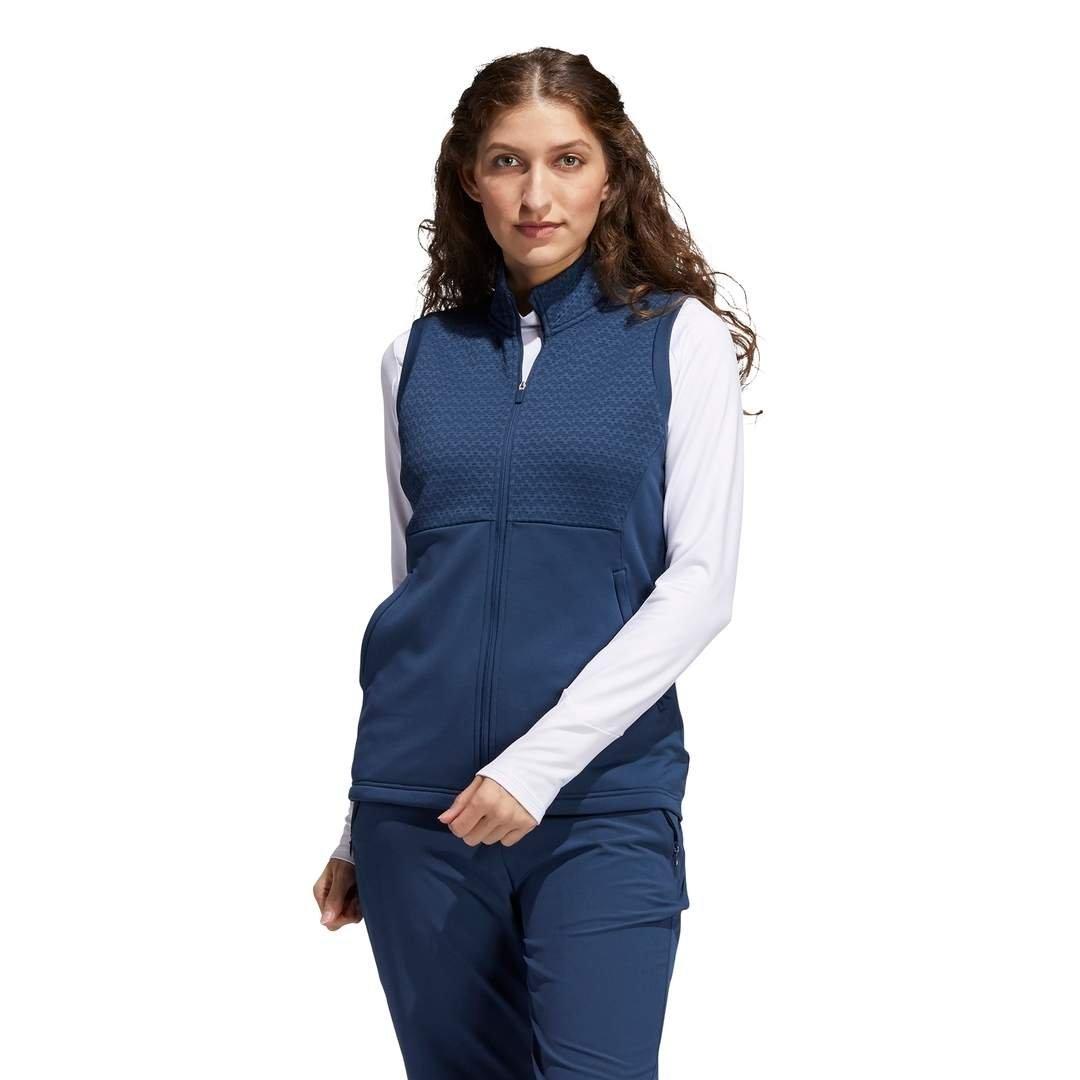 Adidas Women's Primegreen COLD.RDY Full-Zip Vest - Crew Navy