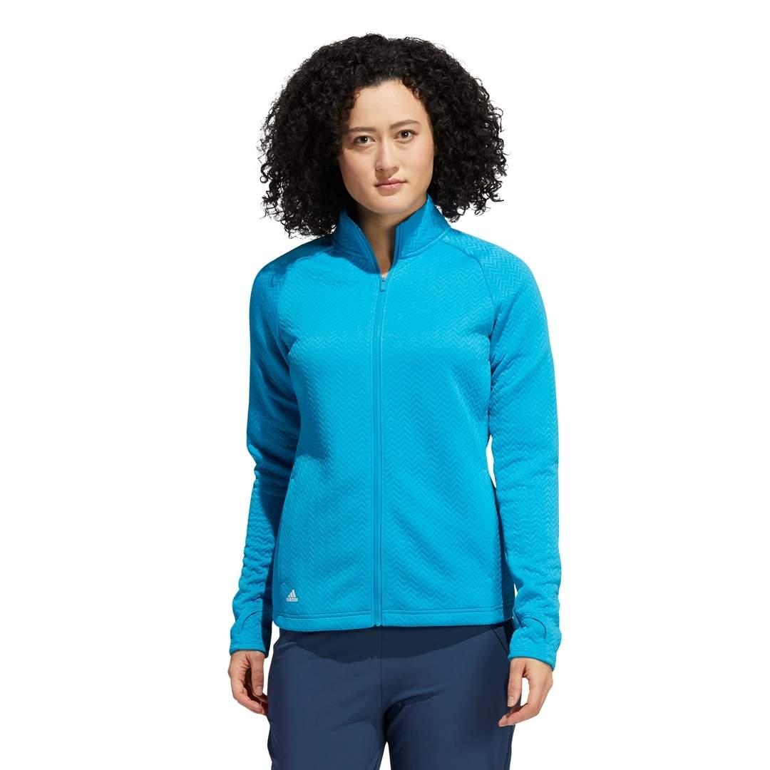 Adidas Women's Textured Layer Jacket - Sonic Aqua