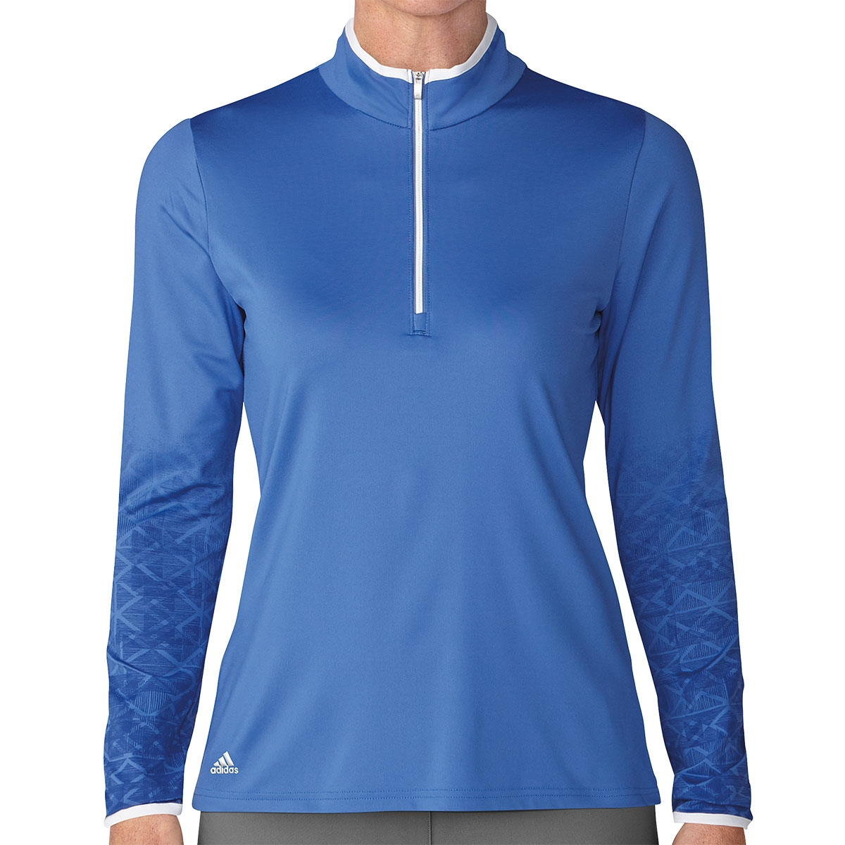 Adidas Womens UPF 1/2 Zip Pullover - Blue