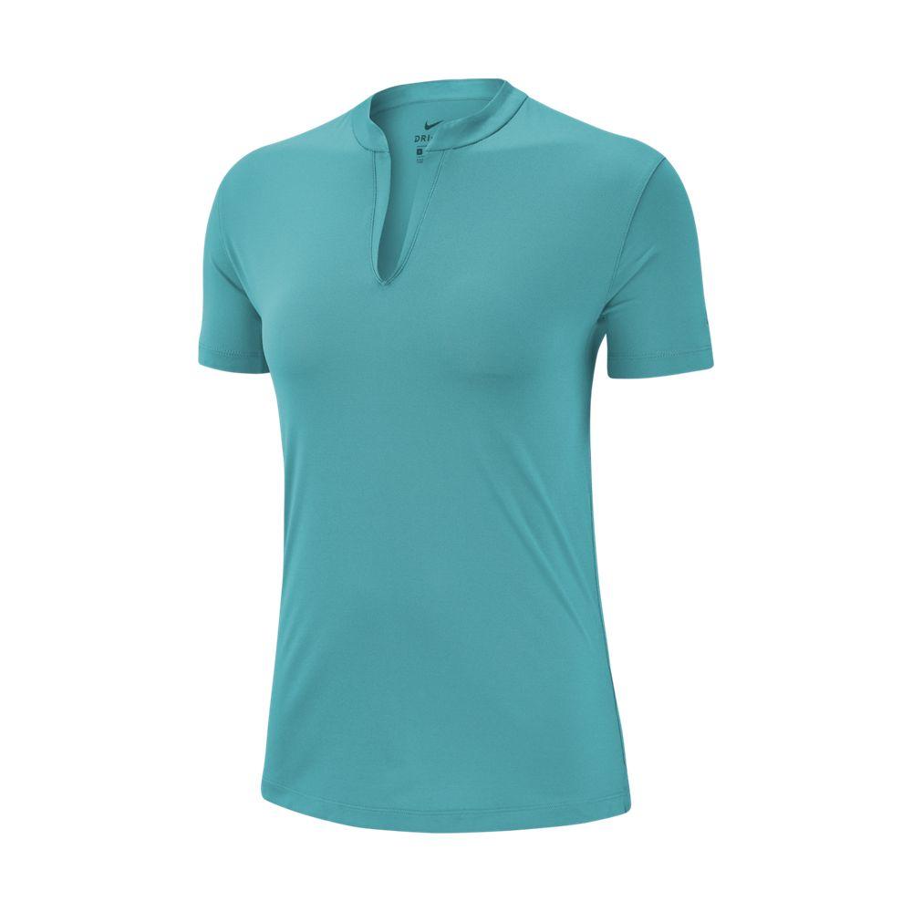Nike Women's Drifit Open Placket Solid Polo