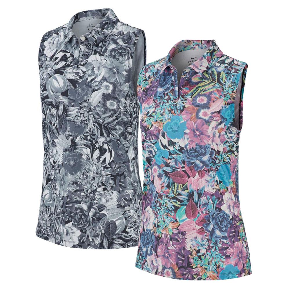 Nike Women's Dry Floral Sleeveless Polo