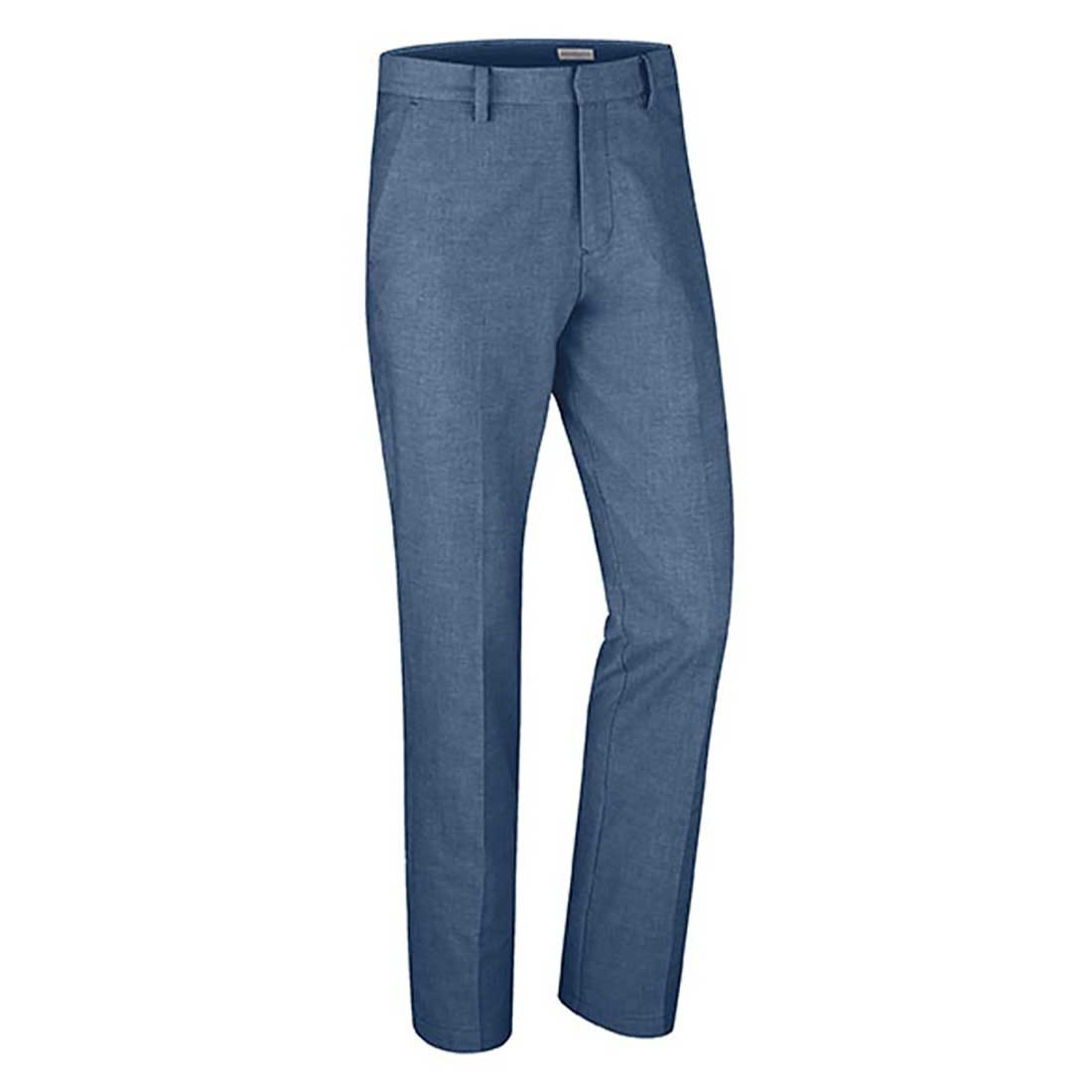 Ashworth Cotton Blend Oxford Flat Front Pant Blue