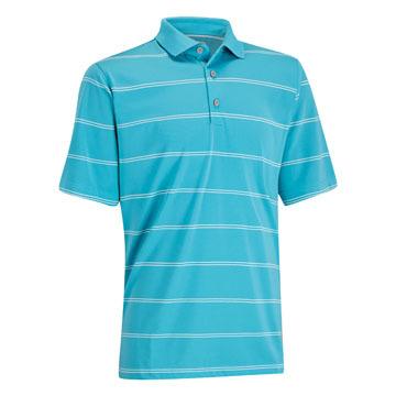 Ashworth EZ-SOF Stripe Golf Shirt Dusty Teal