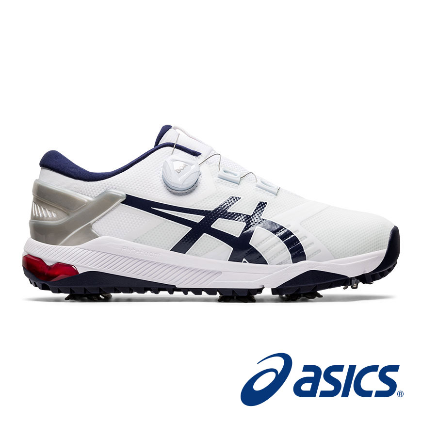 Asics Men's Gel-Course Duo Boa White/Navy Golf Shoes