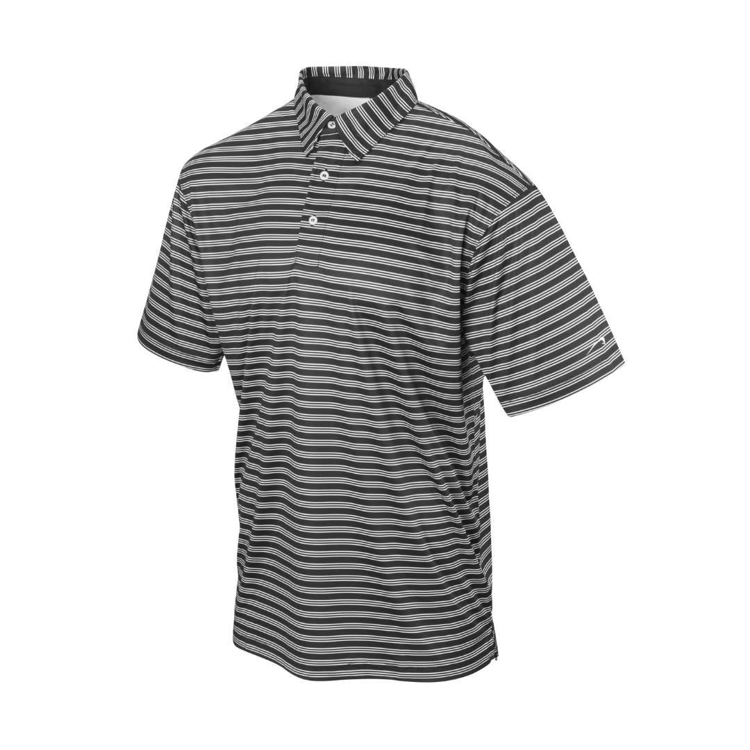 Backspin Golf Striped Polo