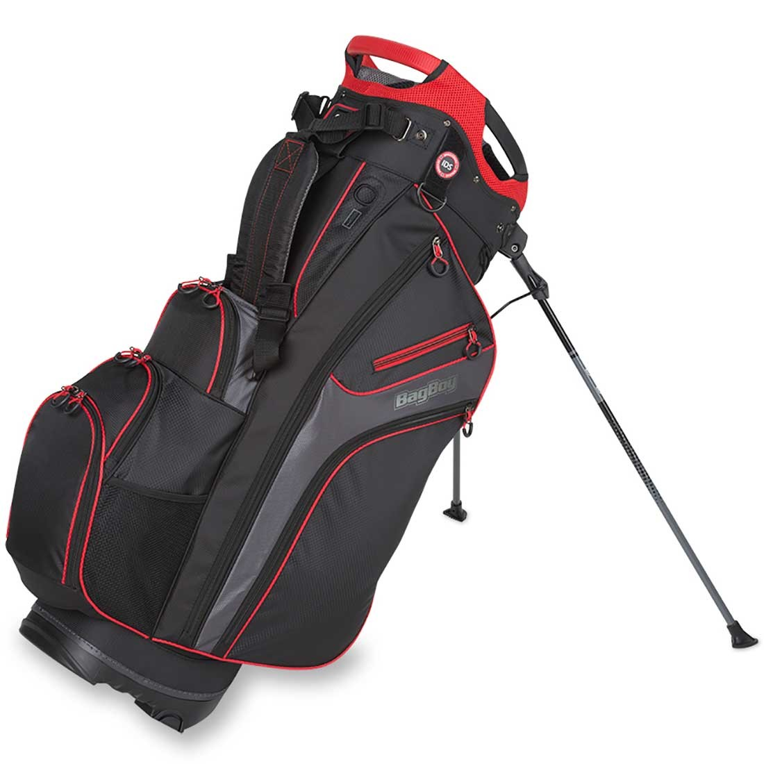 Bag Boy Chiller Hybrid Stand Bag Black Red