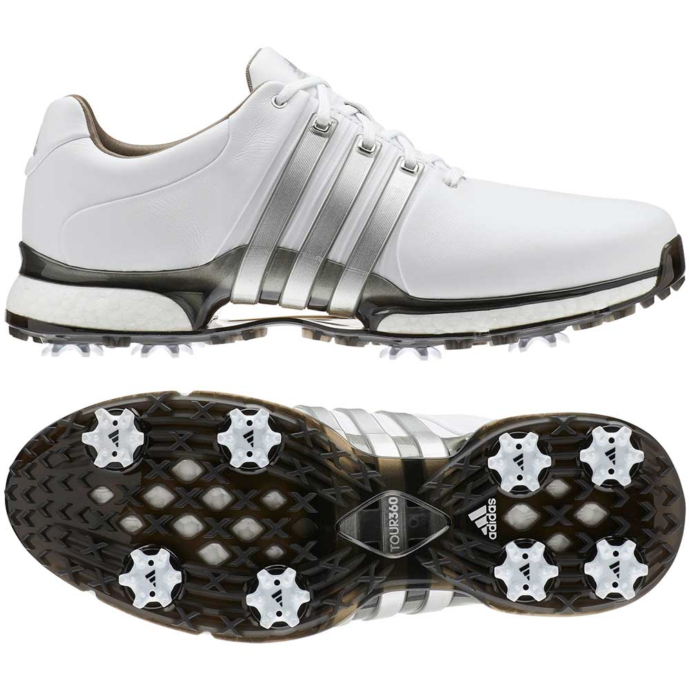 Adidas Men's Tour360 XT White/Silver Golf Shoe