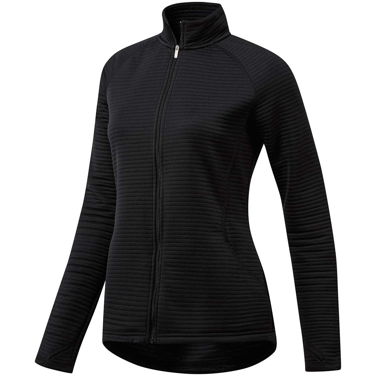Adidas Women's Essential Text Full Zip Jacket - Black