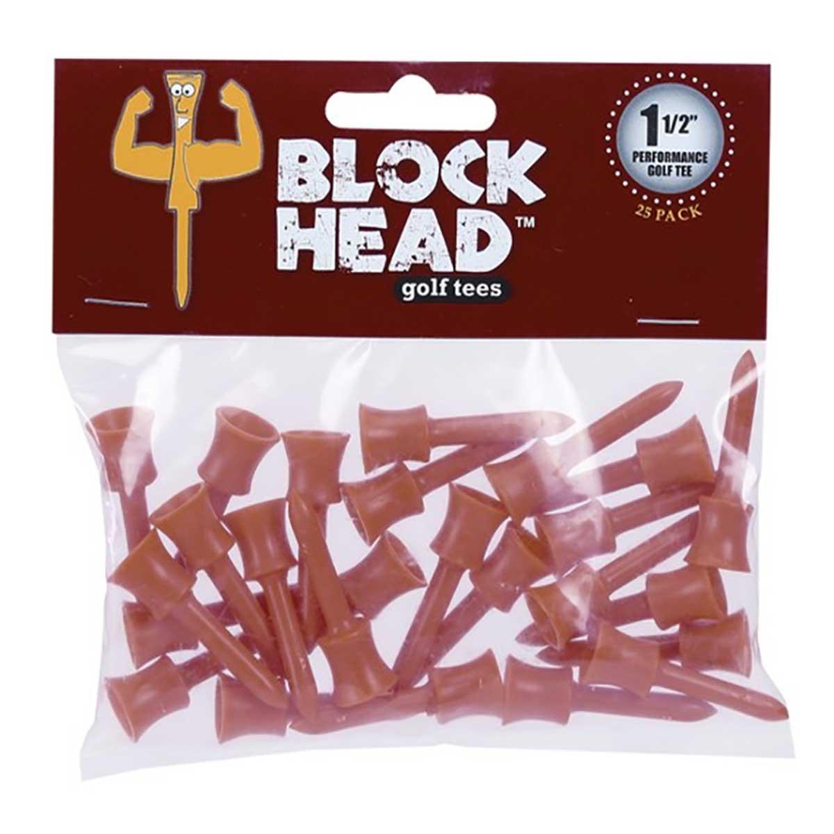 Global Tour Golf Block Head Tees - 25 Pack