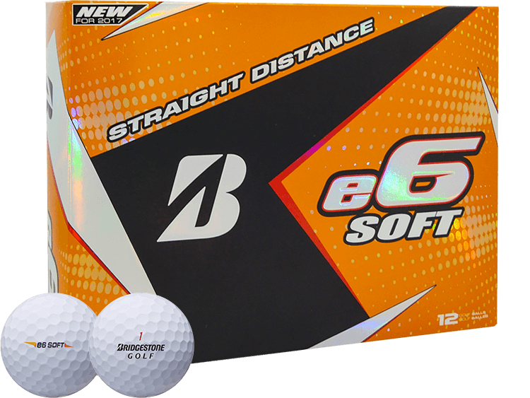 Bridgestone 2017 e6 SOFT Golf Ball - White
