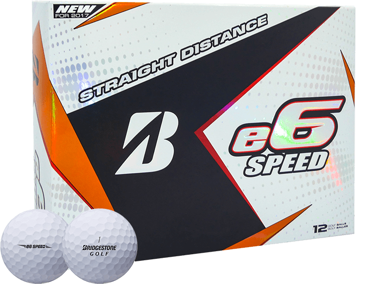 Bridgestone 2017 e6 SPEED Golf Ball  - White